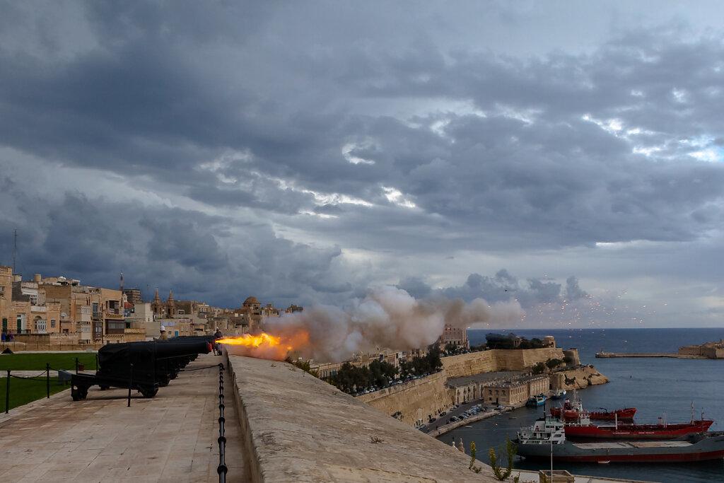 Upper Barrakka Gardens, Valletta (Malta) Saluting Battery