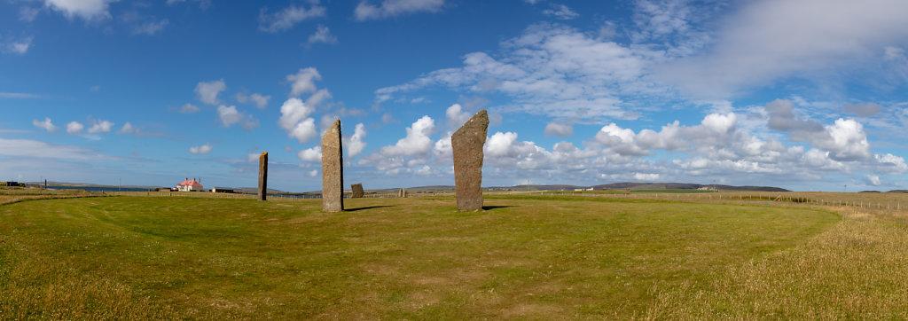 Stehende Steine von Stenness / Orkney Inseln (Standing stone of Stenness / Orkney Islands)