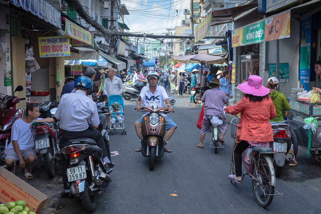 Rushhour in Ho-Chi-Minh-Stadt